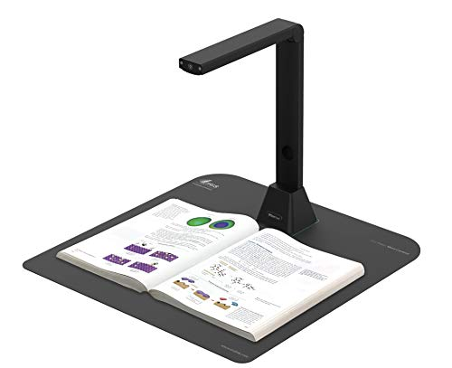 IRIScan Desk 5 PRO A3 Large Color scanner, PRO A3 Document & Book Scanner, Auto-Flatten & Deskew Tech, 12MP, Capture A3, Full OCR Languages, Convert to PDF/Searchable PDF/Word/JPG/Video Recording