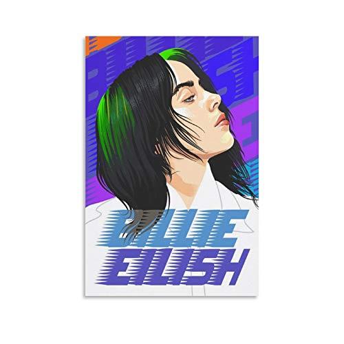 Billie Eilish Logo Vector - Póster artístico de pared con impresión artística moderna para habitación familiar, 30 x 45 cm