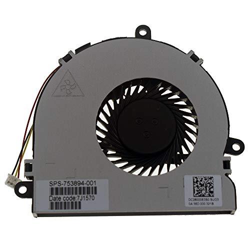 DREZUR Ventilador de CPU compatible con Dell Inspiron 15R 17 17R 3521 3721 5535 5721 5737 15-3521 15R-5537 15-3537 15RV 15R-5521 15R-5521 portátil de la serie 15R-5521