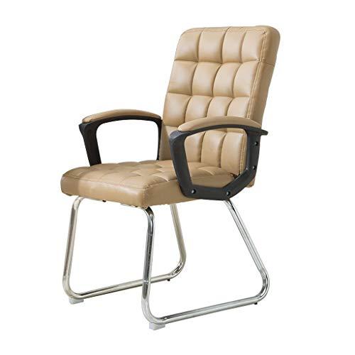 Chaise de bureau en similicuir haute résilience coussin en éponge ordinateur personnel à la maison réunion du siège des étudiants pour discuter du dossier chaise/kaki/charge maximale 150 kg