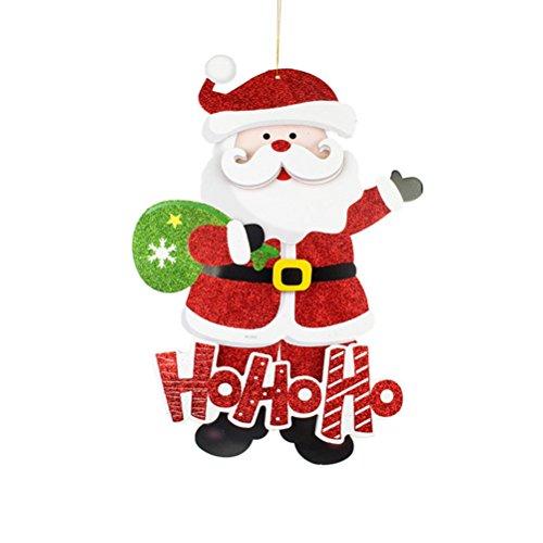 LUOEM Décorations pour Arbres de Noël Fenêtre d'affichage de Porte Murale Stickers Cartoon Pendentifs Suspendus Décor pour Noël Décorations de Noël (Père Noël)