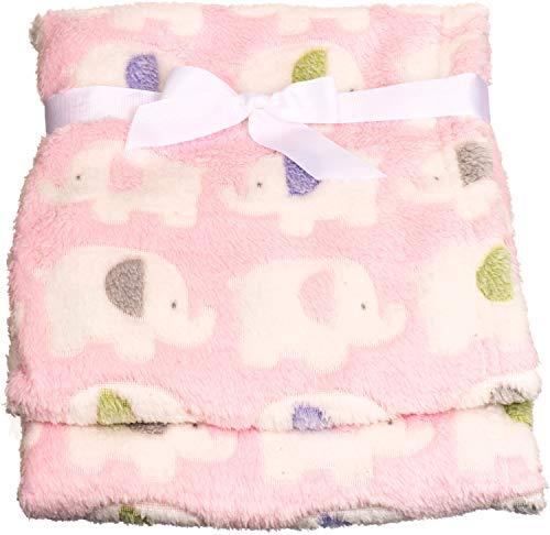 Bieco Babydecke Mädchen Rosa Elefanten | Baby Decke | Kuscheldecke Baby | Baby Blanket | Tagesdecke Kinder Jungen | Buggy Decke | Baby Kuscheldecke | Kissen | Decke Baby| Flauschige Fleecedecke