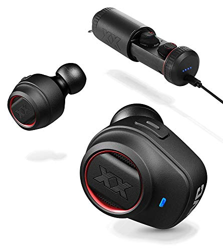 JVC XX True Wireless Earbuds, Bluetooth connectivity, Extreme Deep Bass Ports, Tough Housing Protection & Durable Body, Bass Boost, Voice Assistant Compatible, Up to 3+9 Hours Battery Life - HAXC70BTR