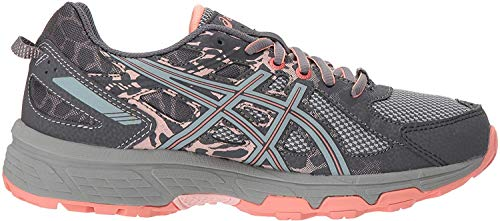 ASICS Gel-Venture 6 Women's Running Shoe, Carbon/Mid Grey/Seashell Pink, 11 M US