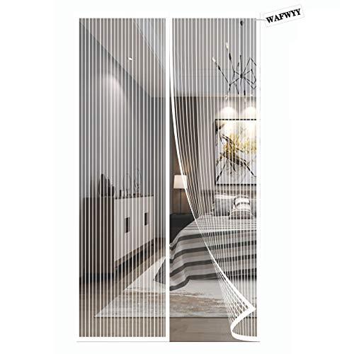 WAFWYY® Magnet Fly Screen Door Protección Contra Insectos, Instalación De Adhesivo De Cortina Magnética Sin Perforación, Cierre Magnético De Mosquitera, Marco Completo, 80x210 Cm