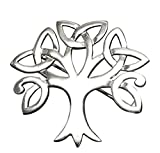 Broche de plata de ley con diseño de árbol de la vida celta de árbol de la vida, caja de regalo de piel sintética,...