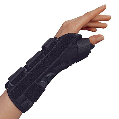 OTC Wrist-Thumb Splint, 8-Inch Adult, Lightweight Breathable, Medium (Left Hand)