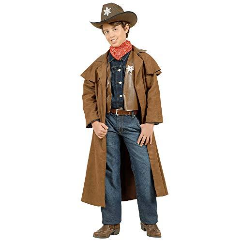WIDMANN wdm57386?Disfraz para niño Cowboy scamosciati (128cm/5?7años), color marrón, talla XXS