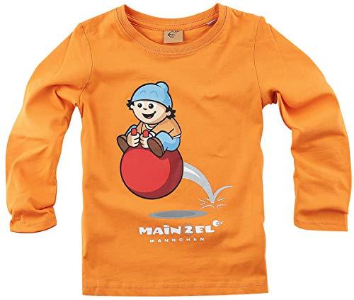 Mainzelmännchen Conni Kinder & Babies Langarmshirt orange 110 100% Baumwolle Fan-Merch, TV-Serien