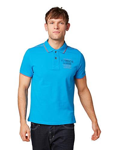 TOM TAILOR Herren Poloshirt Decorated Polo Kurzarm bleu (50) L