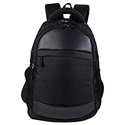 Japsbag Office Laptop Backpack for Men and Women  Casual bagack   School and College Bags in  34 Litrs   Black   3001,Japsbag,JB3001