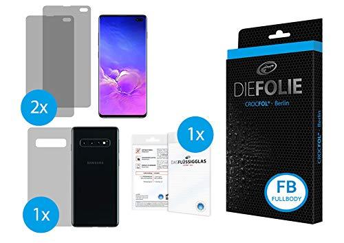 Crocfol Schutzfolie vom Testsieger [3 St.] kompatibel mit Samsung Galaxy S10 - selbstheilende Premium 5D Langzeit-Panzerfolie inkl. Veredelung - für Vorder- und Rückseite