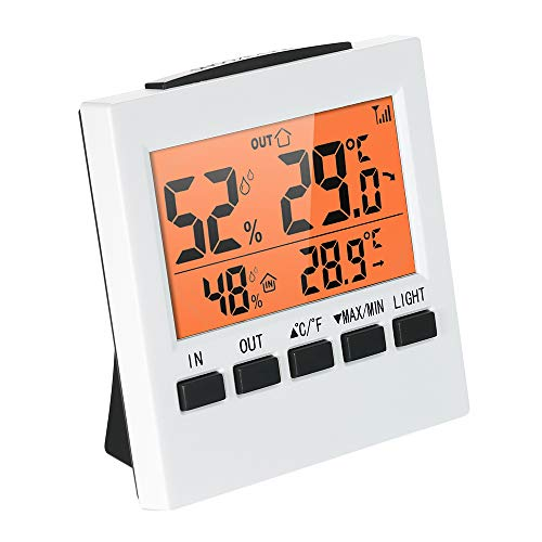 温度計 湿度計 無線 LCDデジタル ワイヤレス 屋内/屋外温度計湿度計 湿度 温度 温度湿度計