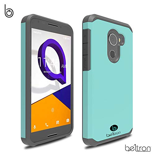 "BELTRON Jitterbug Smart2 Case, Slim Protective Phone Cover, Dual Layer Protection Hybrid Rugged Case Case for Jitterbug Smart 2 Easy-to-Use 5.5"" Smartphone for Seniors by GreatCall (Teal Mint)"