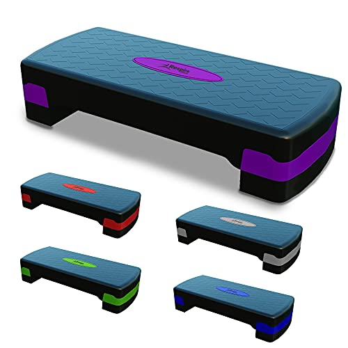 Respire Fitness Step Aerobics Platform with Non-Slip Stepping Surface for Strength, Core, and Cardio...