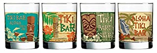Luminarc Tikis Decorated Double Old Fashioned (Set of 4), 13.25 oz (B0199SXSNO) | Amazon price tracker / tracking, Amazon price history charts, Amazon price watches, Amazon price drop alerts