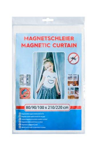 INSEKTENSCHUTZ MAGNETVORHANG WEISS 80/90/100X210/220 CM TÜRNETZ FLIEGENGITTER MAGNET