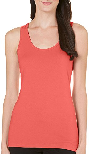 Allison Brittney Women's Basic Scoop Neck Tank, Living Coral, XL