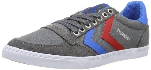 hummel Unisex-Erwachsene Slimmer Stadil Low Sneakers, Grau (Castle Rock/Ribbon Red/Brilliant Blue), 47 EU (12 Erwachsene UK)