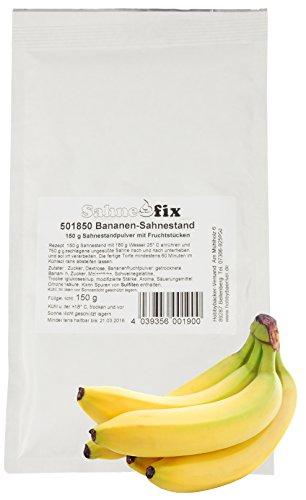 Hobbybäcker Bananen-Sahnestand ► Für fruchtig-süße Sahne, Ideal für Torten, Desserts ►150g Beutel, Reicht für 750g Sahne