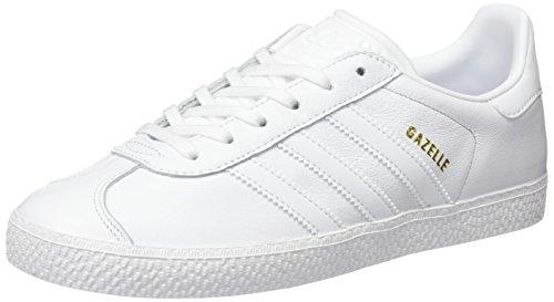 adidas Gazelle, Scarpe da Ginnastica Basse Unisex-Bambini, Bianco (Footwear White/Footwear White/Footwear White), 36 2/3 EU