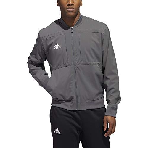 adidas Urban Bomber Jacket - Men's Casual M Grey/White