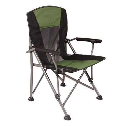 Yuzhijie al aire libre plegable silla de carga de 300 kg de playa de pesca silla de ocio portátil casa jardín mesa y silla, Verde