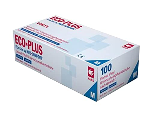 Einmalhandschuhe Vinyl ECO PLUS, Ampri, puderfrei, Box á 100 Stk. small S