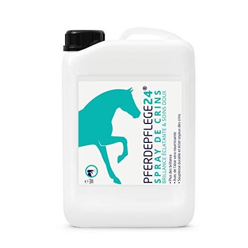 PFERDEPFLEGE24 - Espray de crin para caballos en cantidad de 0,5 l, 1 l y 3 l – Brillante, desenredante y cuidado suave – Accesorios de caballo y cuidado de caballo