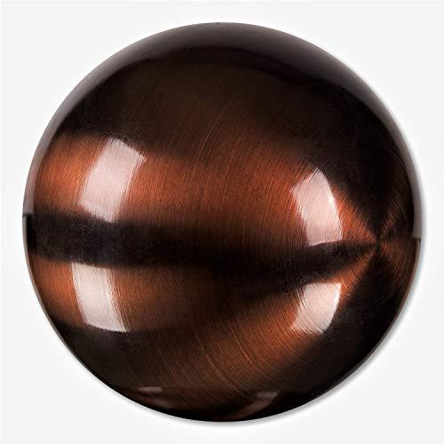 Edelstahlkugeln Bunte Edelstahl- Kugel matt gebürstet ca. 100 mm / 10 cm, Dekokugeln FARBIG (BRAUN 73)