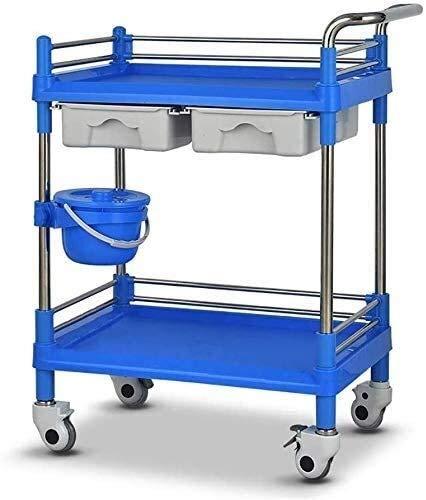 Scatola di immagazzinaggio dell'armadio-può rack d Inizio DIY strumento Set Household bagagli Forniture portatile multifunzionale carrelli a mano, carrello portatile Tool 2 Livello Mobile Spa Carrello