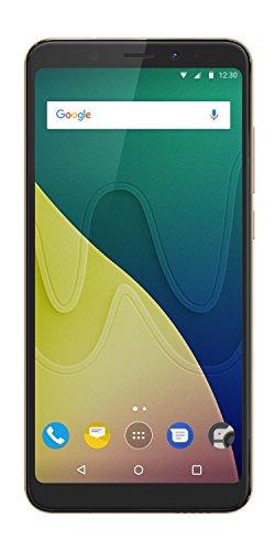 Wiko View XL - Smartphone de pantalla panorámica de 5,99 (Dual SIM, 32 GB de ROM, 3 GB de RAM, procesador Qualcomm Quad Core 1,4GHz, cámara selfie de 16 MP y principal de 13 MP, Android 7.1) Oro
