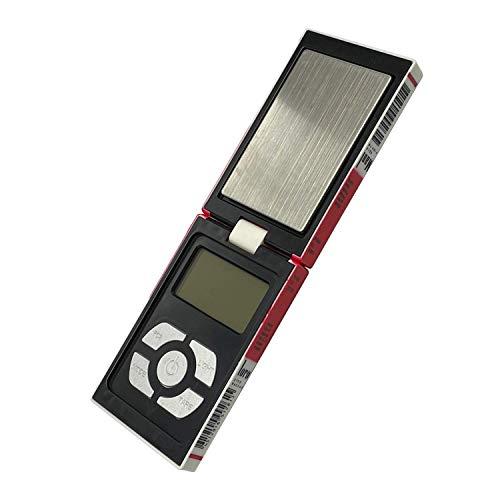 Trimming Shop Elektronisch Digital Multifunktionale Taschen Waage mit Ack-Lit LCD Display für die Küche, Schmuck, Edelsteine, Gold - Weiß, 12.8 x 2.5 x 7.8 CM, Weiß, 12.8 x 2.5 x 7.8 CM