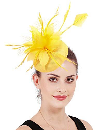Noir Plume Chapeau Pour Les Mariages Ascot Proms avec bandeau A5