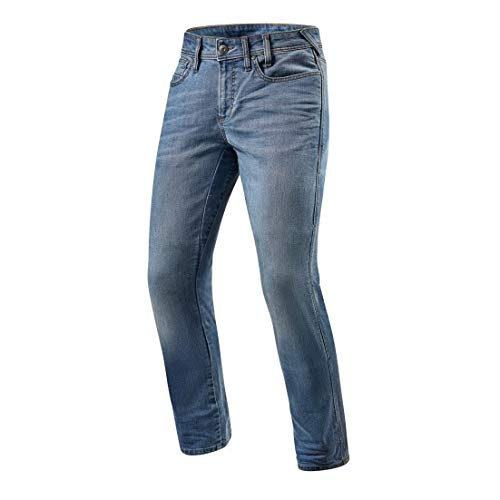 Revit Brentwood Motorcycle Jeans - Light Blue