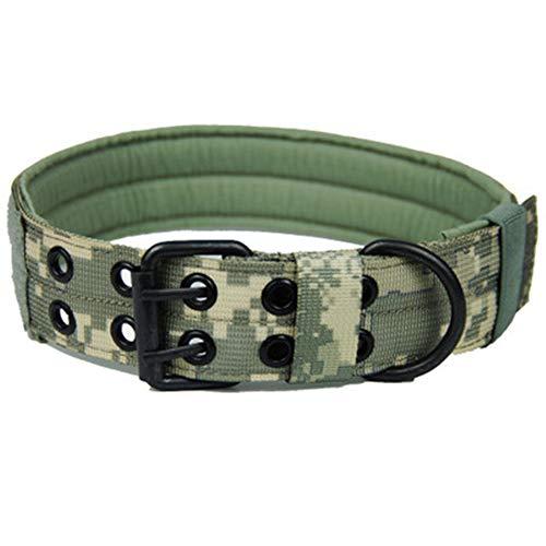 MYYXGS Boutique Summer weiches und verstellbares Lederhalsband Verstellbarer Schultergurt, 5 Löcher, abhängig vom Halsumfang des Hundes L 47-58 cm