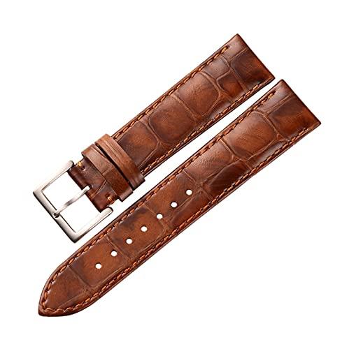 Cuero auténtico de la correa de reloj de los accesorios hechos a mano correas de reloj 18mm/19mm/20mm/22mm reloj Cambio de la correa, 22mm