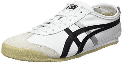 Asics Onitsuka Tiger Mexico 66, Zapatillas Unisex Adulto, Blanco (White/Black 0190), 46 EU