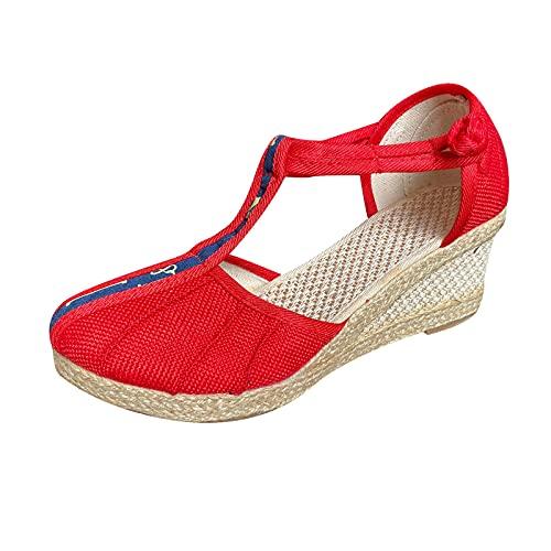 (70% OFF) Ladies Retro Wedge Sandals $19.99 – Coupon Code