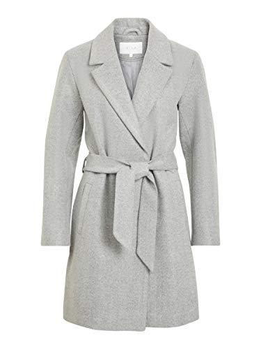 Vila Clothes Damen VILUS Jacket-NOOS Mantel, Grau (Light Grey Melange Light Grey Melange), 40