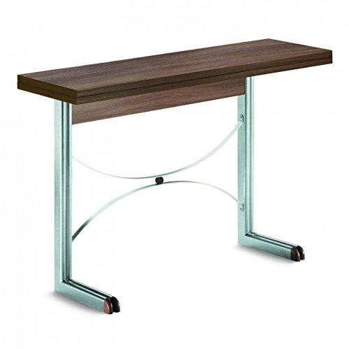 Diesis Console Chêne Moro 110 cm transformable en table de salle à manger