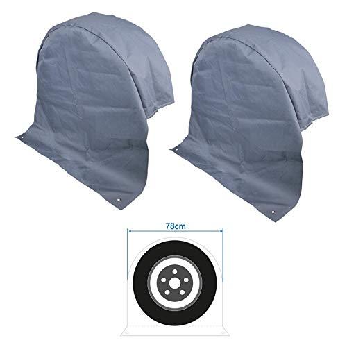 2 x XL Radabdeckung Reifenabdeckung Radschutzhülle Wohnwagen Wohnmobil Anhänger