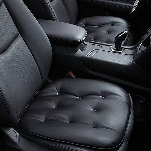 Big Ant Sitzauflagen Auto Sitzkissen Auto weiche Sitzbezüge Auto Passt für Autositz Bürostuhl Rollstuhl Schwarz (1 Stück)