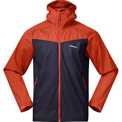 Bergans Microlight M Jacket Colorblock-Blau-Orange, Herren Windbreaker, Größe S - Farbe Dark Navy - Lava