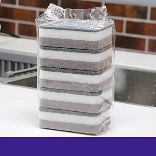 N-B (5 Piezas * 4 Bolsas) 20 Piezas de Esponja para Lavar Platos, Esponja de Limpieza, toallita mágica, Estropajo Multifuncional para Cocina y baño