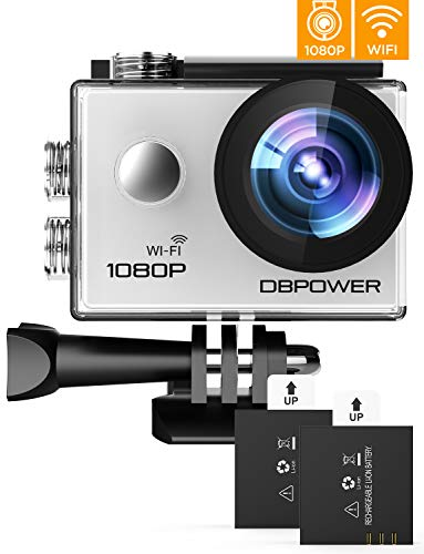 DBPOWER 1080P HD Action Cam 40M Impermeabile Fotocamera 170° Grandangolare Display Ad Altissima Definizione Videocamera