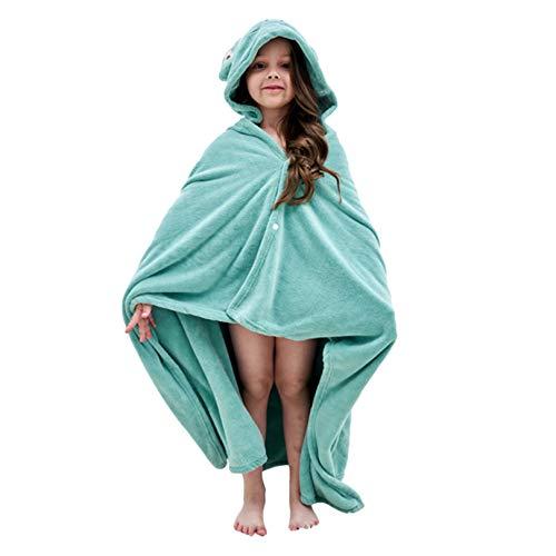 YiyiLai Baby Handtuch mit Kapuze Große Größe Badetuch für Kleinkinder, weich und super saugfähig, maschinenwaschbar, Handtuch mit niedlichem Tier-Design für Babyparty Gr. M , A: Grüner Frosch