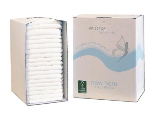 Wiona Biowindeln NEW BORN (2-4kg) - 20 Stück