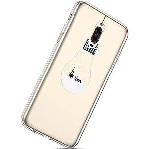 Kompatibel mit Handytasche Huawei Mate 9 Pro Silikonhülle Cover Durchsichtige Handyhülle Silikon Kristall Klar Transparent Schutzhülle Crystal Clear Handycover Dünn Bumper Tasche,Baum