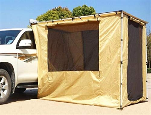 Car Side Awning Auto Lightweight 4WD Car Pull Out Annex Canopy Rooftop Car Side Canopy Roof Awning Room Tent - Awning+House Tent (Color : Khaki, Size : 23M)
